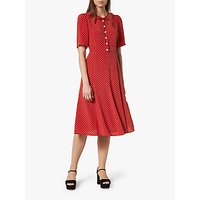 L.K.Bennett Montana Silk Dress, Burgundy
