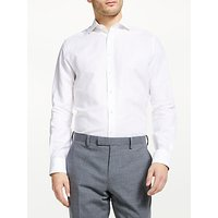John Lewis and Partners Cotton Linen Tailored Fit Shirt