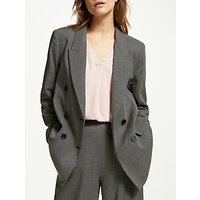ARMEDANGELS Checky Double Breasted Pin Dot Jacket, Grey