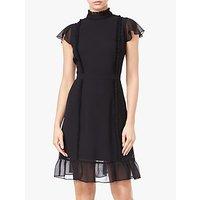 Adrianna Papell Ruffle Detail Chiffon Dress, Black