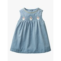 Mini Boden Baby Festive Party Dress, Boathouse Blue
