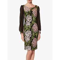 Gina Bacconi Galina Embroidered Floral Print Shift Dress, Multi