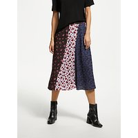 Finery Veronica Mixed Print Midi Skirt, Multi