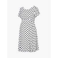 Séraphine Bonnie Spot Maternity Dress, Black/white