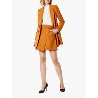 Karen Millen Wrap Mini Skirt, Burnt Orange