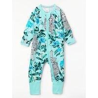 Bonds Baby Unreal Tiger Print Wondersuit, Blue