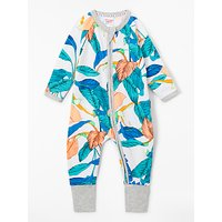 Bonds Baby Unreal Leaf Print Wondersuit, Green