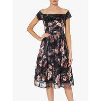 shop for Gina Bacconi Sonia Floral Print Dress, Black at Shopo