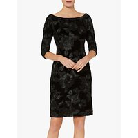 shop for Gina Bacconi Carina Floral Velvet Dress, Black at Shopo