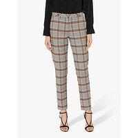 Gina Bacconi Monet Check Trousers, Orange