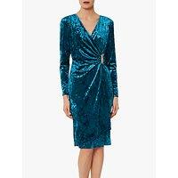 shop for Gina Bacconi Arabella Velvet Wrap Midi Dress at Shopo