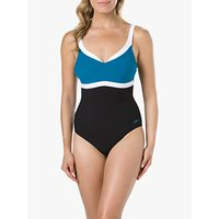 Speedo Sculpture Aquajewel One Piece Swimsuit, Black/Blue