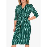 Jolie Moi Print Wrap Midi Dress