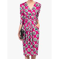 shop for Jolie Moi Print Wrap Midi Dress at Shopo