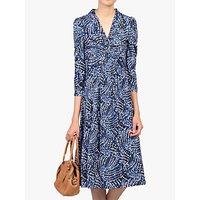 shop for Jolie Moi Twist Knot Front Dress, Blue Pattern at Shopo