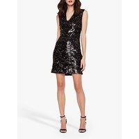 shop for Damsel in a Dress Albanie Neon Sequin Dress, Black/Multi at Shopo