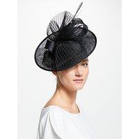 John Lewis & Partners Anya Disc Occasion Hat, Black