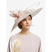 John Lewis & Partners Elle Floral Down Brim Disc Occasion Hat