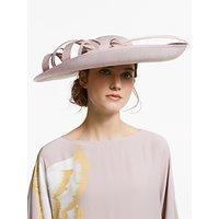 John Lewis & Partners Rebecca Large Side Upturn Swirl Detail Occasion Hat