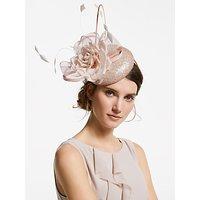 John Lewis & Partners Mia Sequin Pillbox Floral Fascinator, Blush