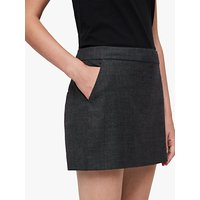 Allsaints Harriet Check Skirt, Charcoal Grey