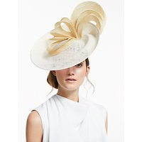 Vixen Millinery Diana Multi Loop Disc Occasion Hat, Ivory/Cream