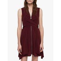 AllSaints Jayda Dress, Bordeaux Red