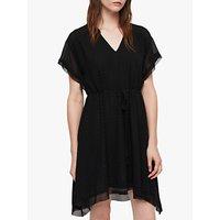 Allsaints Keira Shimmer Dress, Black