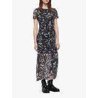 Allsaints Ariya Lisk Floral Dress, Black