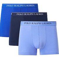 Polo Ralph Lauren Contrast Waistband Trunks, Pack of 3, Blue