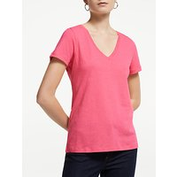 John Lewis and Partners V-Neck Cotton Slub T-Shirt