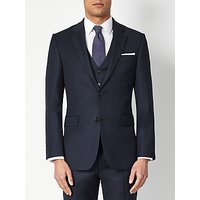 John Lewis and Partners Birdseye Wool Regular Fit Suit Jacket, Navy