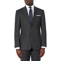 John Lewis and Partners Birdseye Wool Regular Fit Suit Jacket, Charcoal
