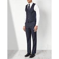 John Lewis & Partners Regular Fit Birdseye Waistcoat, Navy