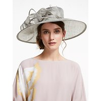 John Lewis & Partners Valentina Side Twirl Occasion Hat, Shadow Pearl