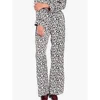 Ghost Brooke Animal Print Trousers, Brown/Multi