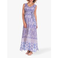 Séraphine Jazz Maxi Maternity Nursing Dress, Blue