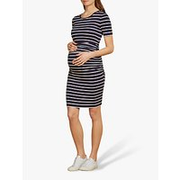 Isabella Oliver Daisy Striped Maternity Dress, Navy/soft White