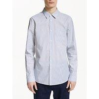 Kin Micro Stripe Poplin Shirt, White