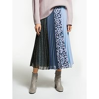 Finery Amara Multi Print Pleat Midi Skirt, Multi