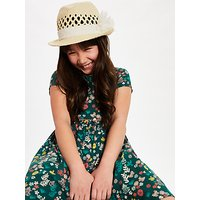 John Lewis and Partners Childrens Straw Trilby Woven Hat, Neutral