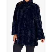 Chesca Faux Fur Swing Coat
