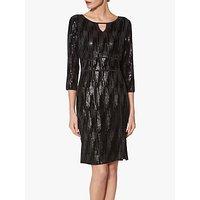 shop for Gina Bacconi Mariam Sequin Velvet Dress, Black at Shopo