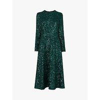 L.K.Bennett Lazia A-Line Sequin Dress, Forest