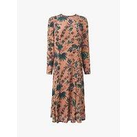 L.K.Bennett Noah Floral Print Dress, Pink/Multi