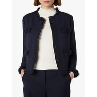 L.K.Bennett Myia Tweed Jacket, Sloane Blue