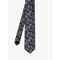 Ted Baker Leaf Silk Tie, Blue