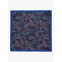 Ted Baker Sagloo Paisley Silk Pocket Square, Navy/Multi