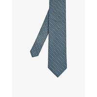 Ted Baker Cable Geo Print Silk Tie, Teal