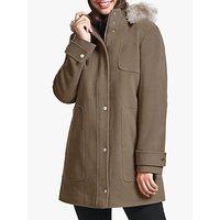 Four Seasons Faux Fur Hood Parka Coat